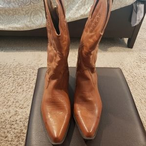 Avenue Light Brown Western Boots